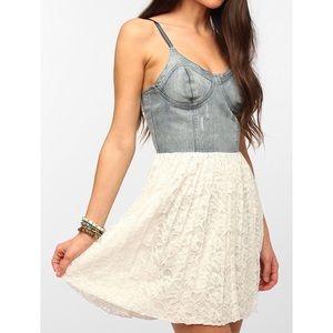 Motel Rocks denim & lace dress 💕